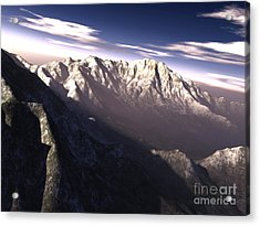 Terragen Render Of Kitt Peak, Arizona Acrylic Print by Rhys Taylor