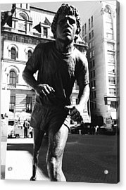 Terry Fox Acrylic Print by Kevin Gilchrist