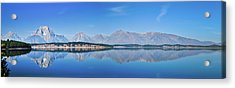 Teton Reflections Acrylic Print by Greg Norrell