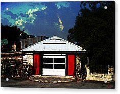 Texas Garage Acrylic Print by Kelly Rader