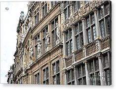 Textures Of Brussels Acrylic Print by Carol Groenen
