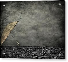 Th E Red Umbrella Acrylic Print by JC Photography and Art