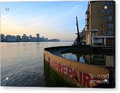Thames Sunrise Acrylic Print by Donald Davis