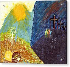 Thank God For Good Friday And Easter Sunday Acrylic Print by Carl Deaville