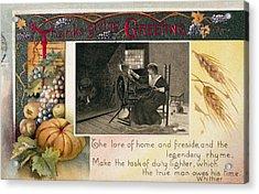 Thanksgiving Card, 1909 Acrylic Print by Granger