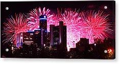The 54th Annual Target Fireworks In Detroit Michigan Acrylic Print by Gordon Dean II