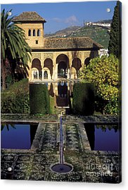 The Alhambra Palace Of The Partal Acrylic Print by Guido Montanes Castillo