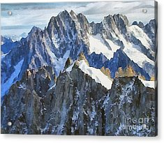 The Alps Acrylic Print by Odon Czintos