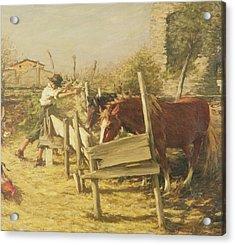 The Appian Way Acrylic Print by Henry Herbert La Thangue