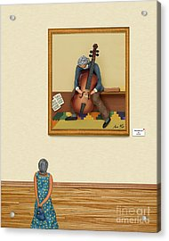 The Art Critic 2 Acrylic Print by Anne Klar