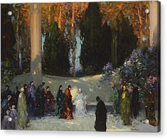 The Audience Acrylic Print by TE Mostyn