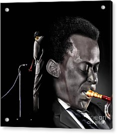 The Back And The Affront Of Miles Davis Acrylic Print by Reggie Duffie