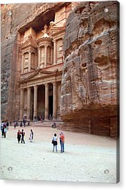 The Bank Acrylic Print by Munir Alawi