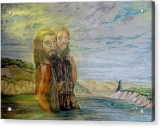 The Baptism Of Yeshua Messiah Acrylic Print by Anastasia Savage Ealy