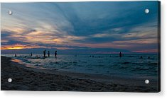 The Beach Acrylic Print by Tim Nichols