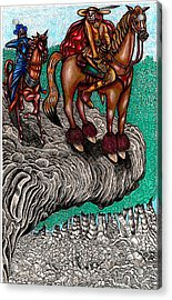 The Beast And Nahamanides In Shitaki Forest Acrylic Print by Al Goldfarb