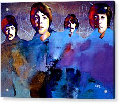 The Beatles Acrylic Print by Carvil