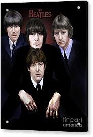 The Beatles Acrylic Print by Reggie Duffie