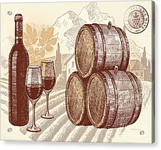 The Best Vintage Wine Acrylic Print by Cheryl Young