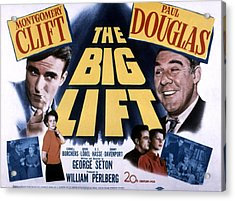 The Big Lift, Montgomery Clift, Paul Acrylic Print by Everett