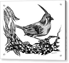 The Black Bird Acrylic Print by Mario Perez