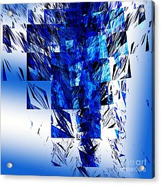 The Blue Chandelier Acrylic Print by Andee Design