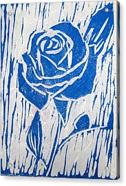 The Blue Rose Acrylic Print by Marita McVeigh