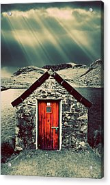 The Boathouse Acrylic Print by Meirion Matthias