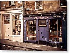 The Bow Bar. Edinburgh. Scotland Acrylic Print by Jenny Rainbow