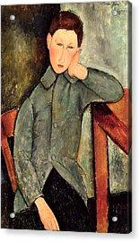 The Boy Acrylic Print by Amedeo Modigliani