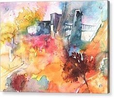 The Bridge On Planet Goodaboom Acrylic Print by Miki De Goodaboom