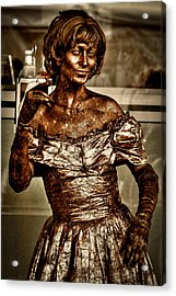 The Bronze Lady In Pike Place Market Acrylic Print by David Patterson