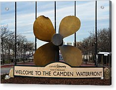 The Camden Waterfront Acrylic Print by Bill Cannon