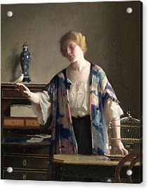 The Canary Acrylic Print by William McGregor Paxton
