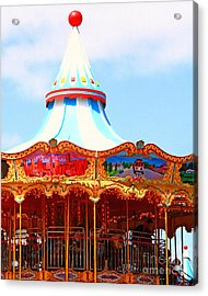 The Carousel At Pier 39 San Francisco California . 7d14342 Acrylic Print by Wingsdomain Art and Photography