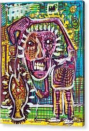 The Catch Acrylic Print by Robert Wolverton Jr