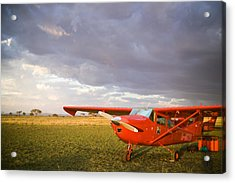 The Cessna Makes A Pit Stop To Refuel Acrylic Print by Michael Fay