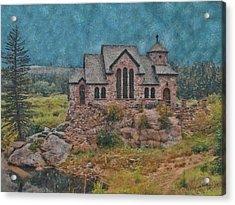The Chapel Acrylic Print by Ernie Echols