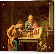 The Checker Players Acrylic Print by George Caleb Bingham