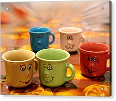 The Cheerful Cups Acrylic Print by Alessandro Della Pietra