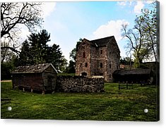 The Chicken Coop And The Barn Acrylic Print by Bill Cannon