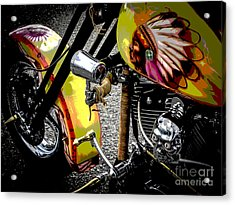 The Chief Rides Acrylic Print by Chuck Re