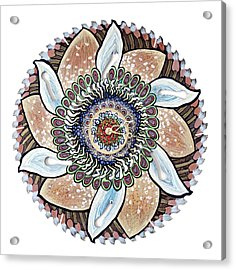 The Chris-can-themum Wall Clock Acrylic Print by Jessica Sornson