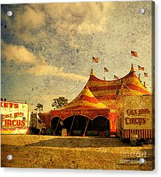 The Circus Is In Town Acrylic Print by Susanne Van Hulst