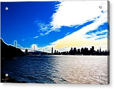 The City By The Bay Acrylic Print by Wingsdomain Art and Photography