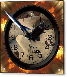 The Clock Is Ticking Acrylic Print by E  Kraizberg