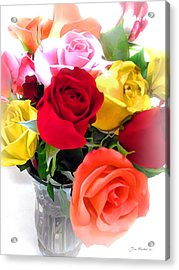 The Color Of A Rose Acrylic Print by Joan  Minchak