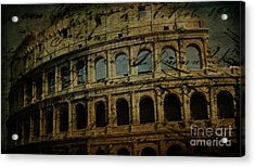 The Colosseum Of Rome Acrylic Print by Lee Dos Santos
