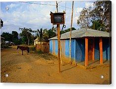 The Community Television Set Acrylic Print by James P. Blair