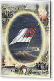 The Confederate Flag, 1867 Acrylic Print by Granger